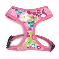 Casual Canine Cotton/Polyster Mod Print Fabric Dog Harness, Small, Pink