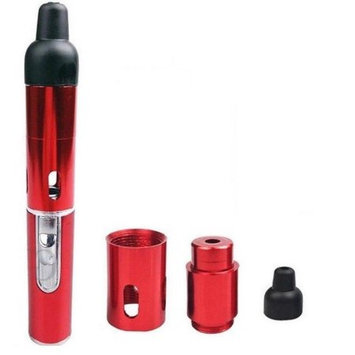 Zebra Smoke Glow Butane Dry Herb Vape Pen Vaporizer For Dry Herbs Tobbaco (Red)