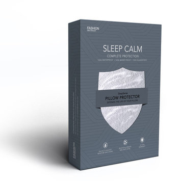 Sleep Calm Pillow Protector with Stain and Dust Mite Defense, King