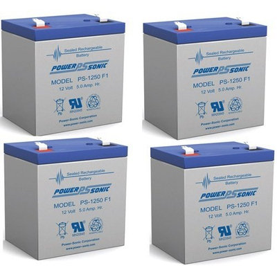 12v 4500 mAh UPS Battery for Acme Security Systems SDC602 - 4 Pack