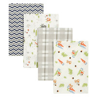 Test Trend Lab Woodsy Gnomes 4 Pack Flannel Blankets, Multi-Colored