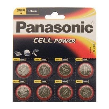 Cr2032 Battery (8 Pack) - Panasonic, Lithium Coin Cell, 3V
