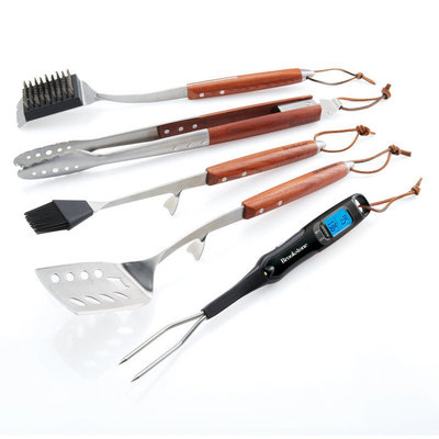 Brookstone 5-Piece Grill Set with Digital Thermometer