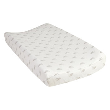 Test Trend Lab Gray Stag Silhouettes Deluxe Flannel Changing Pad Cover, Grey