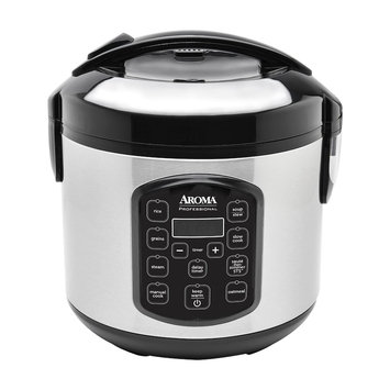 Aroma 8-Cup Stainless Steel Digital Rice Cooker & Multi-Cooker, Multicolor