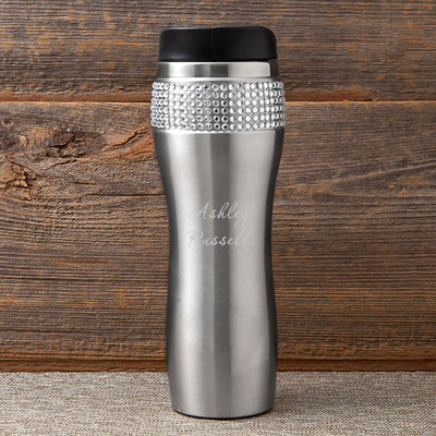 Jds Marketing & Sales, Inc. Personalized Bling Travel Tumbler