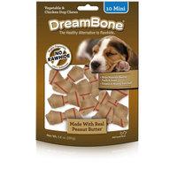 Petmatrix DreamBone Vegetable and Chicken Peanut Butter Mini Dog Chews, 10-Count, 5.6 oz