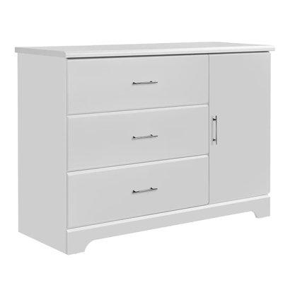 Storkcraft Brookside 3 Drawer Combo Dresser - White