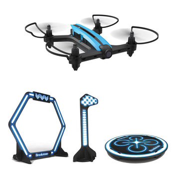 Brookstone Flight Force Racing Drone with Obstacle Course