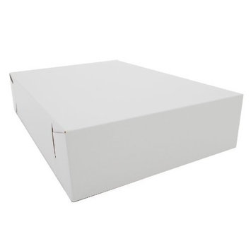 Southern Champion Tray 1035 Premium Clay Coated Kraft Paperboard White Non-Window Sheet Cake and Utility Box, 19
