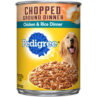Pedigree® Traditional Ground Dinner with Chicken & Rice Canned Dog Food