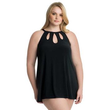 Plus Size Croft & Barrow® Thigh Minimizing Cutout Swimdress