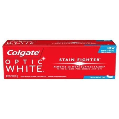 Colgate Optic White Stain Fighter Fresh Mint Gel, 4.2 oz