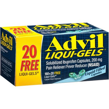 Advil Solubilized Ibuprofen Pain Reliever/Fever Reducer Liqui-Gels, 200mg, 180 count