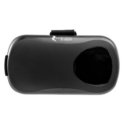 Zunammy Zvision 360-Degree Virtual Reality Headset Adjustable Goggles for Smartphones - Black