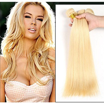 Wigsforyou@7A Russian Blonde Virgin Hair Weaves 1 Pc Lot Peruvian 613 Human Hair Straight Blonde Remy Hair Extensions 8-28inch Wholesale