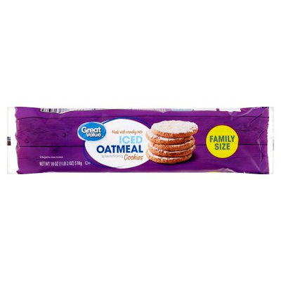 Great Value Iced Oatmeal Cookies