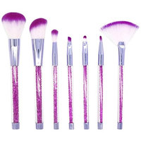 7 Pcs Diamonds Makeup Brush Set Eye Shadow Brush Cosmetics Blending Brush Tool