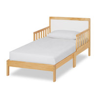 Dream On Me Brookside Toddler bed, Natural/White