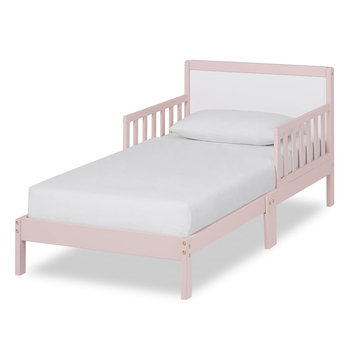 Dream On Me Brookside Toddler bed, Blush Pink/White