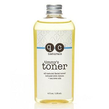 q.c. naturals Timmy's Toner, 100% Organic Facial Toner, Apple Cider Vinegar, Witch Hazel, Lemon & Tea Tree Oil, Anti Aging Pore Minimizer - Nourishes & Hydrates All Skin Types 4 Fluid Ounce