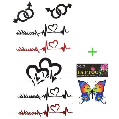GGSELL GGSELL 2013 new design temporary tattoo waterproof ECG keychain totem tattoo stickers