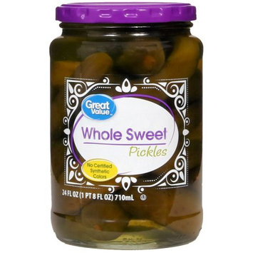 Great Value Whole Sweet Pickles