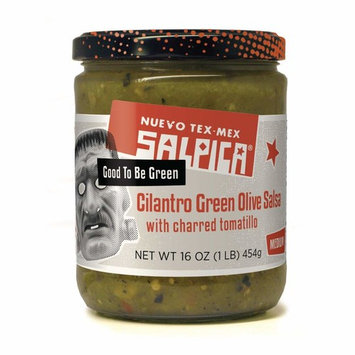 Frontera Foods Salpica Cilantro Green Olive with Charred Tomatillo, Medium, 16 Ounce
