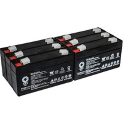SPS Brand 6V 1.3 Ah (Terminal T1) Replacement battery for Marquette Medical BP711 (6 PACK)