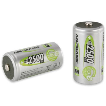 ANSMANN C Size 2500mAh NiMH Low Self Discharge Pre-Charged Rechargeable Batteries