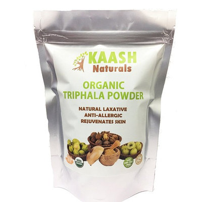 Organic TRIPHALA Powder, 100% Raw from India, Natural, SuperFood, Gluten Free, Herbal, KAASH Naturals