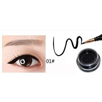 FTXJ Eye's Makeup Waterproof Eyeliner Feather Pen+Liquid Ink+Bottle Cushion