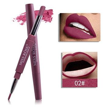 Jinjin 8 Color MISS ROSE Double-end Long Lasting Waterproof Lipliner Waterproof Lip Liner Stick Pencil