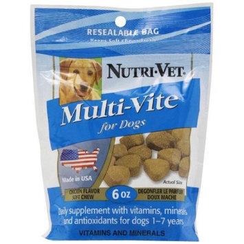 Nutri-vet Natural Smoke Flavored Multi Vite Soft Chews for Dogs
