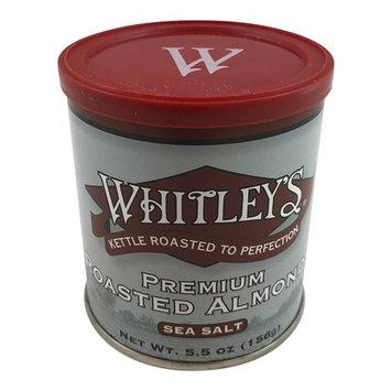Whitley's Premium Kettle Roasted Almonds with Sea Salt 5.5 Oz Tin