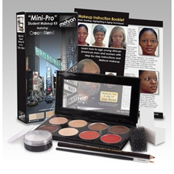 Mini-Pro Student Makeup Kit Medium Dark/Dark Mehron HD Theater Stage Medium Dark