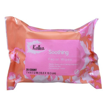 Kallea Night Calming Makeup Remover Towelettes & Facial (Face) Wipes, 25 Count (Pack of 6)