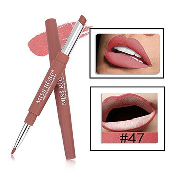 MISS ROSE Lipstick Pen Lip Liner Double-end head 6 Popular colors available Waterproof Lasting Lip Liner Stick Pencil Lipstick