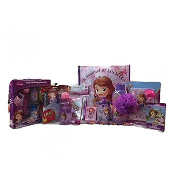 Disney Sofia the First Bath, Stationery and Games Set with Gift Tote Bag