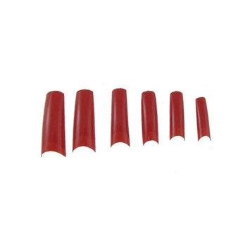 100 Pcs 10 Size Red False Fingernail Nail Art Half Tips
