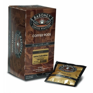 Baronet Coffee Decaf 100% Colombian Medium Roast, 18-Count Coffee Pods (Pack of 3)