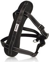 DEXDOG Chest Plate Harness with Adjustable Straps, Reflective, Padded for X-Small Dogs - Black