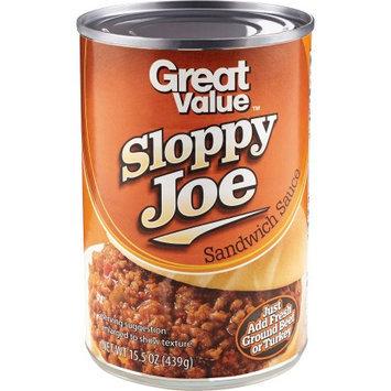 Great Value Sloppy Joe Sandwich Sauce, 15.5 oz