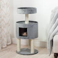 Trademark Global Llc Kitty Cat Condo with Overhead Balcony - Grey