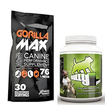 Bully Max Dog Muscle Supplement (Bully Max Gorilla Max Combo)