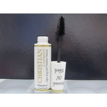 CHRISTIAN SUPER LONG LASH TREATMENT MASCARA Waterproof AVOCADO OIL BLACK .43 oz…