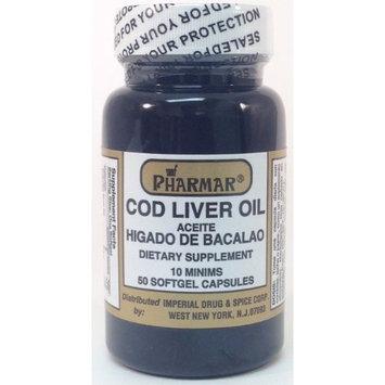 Pharmar Aceite De Higado De Bacalao Cod Liver Oil Capsules, 100 Count (2x50ct)