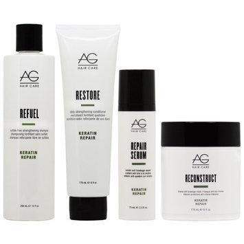 Ag Hair Care AG Hair Refuel Shampoo 10oz + Restore Conditioner 6oz + Repair Serum + Reconstruct Mask 'Set' (Pack of 4)