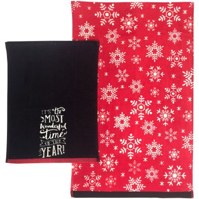 Trans Industrial Corp Holiday Time 2pc Hand/Tip Towel Set