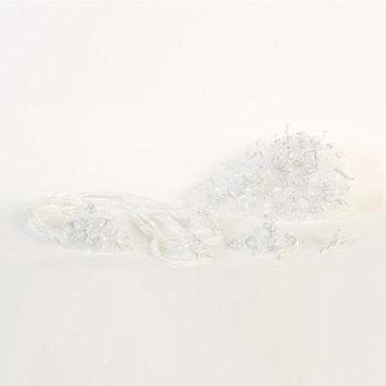 Angels Garment White Crystals Headpiece Wedding Bouquet Set